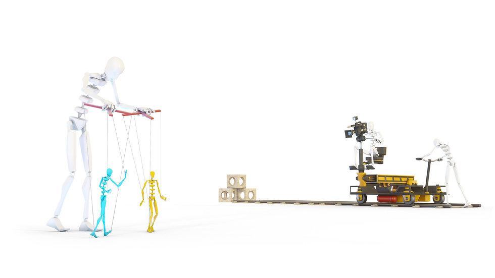процесс анимации персонажей и объектов