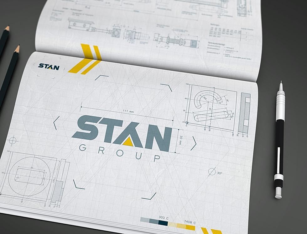 Разработка логотипа для нового станкостроительного концерна «STAN group»