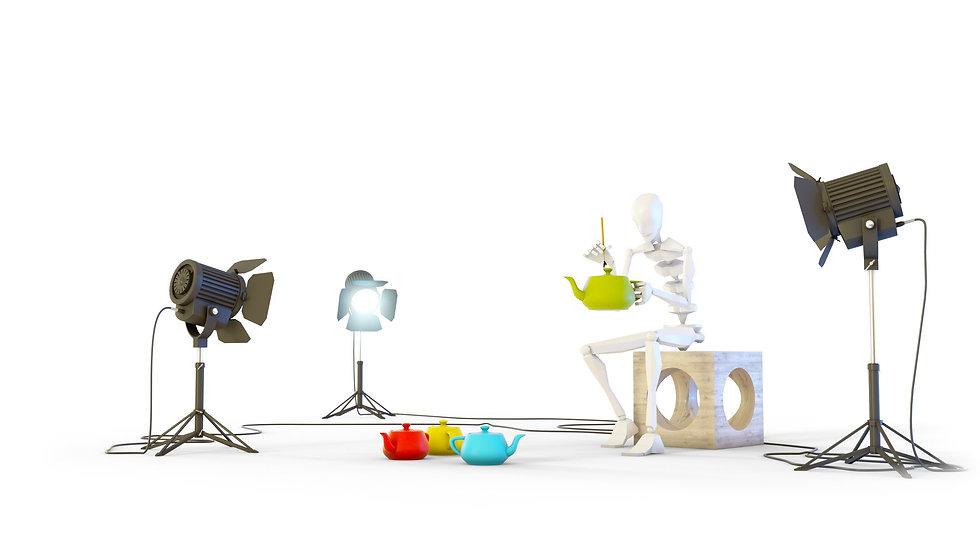 создаём материалы и ставим свет