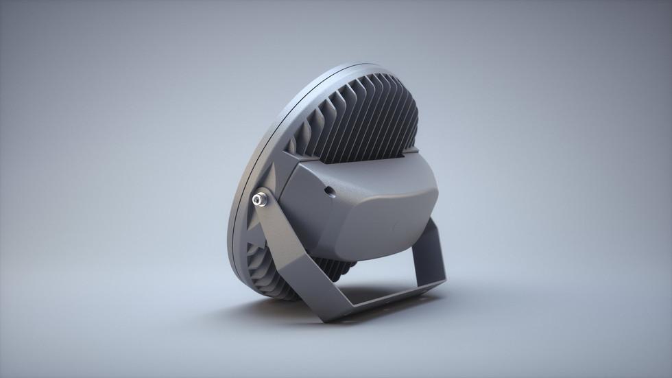 3D иллюстрация светодиодного светильника
