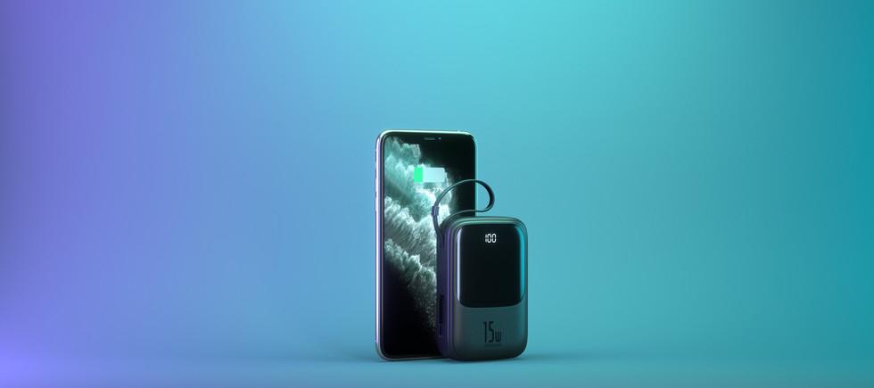 3D моделирование и визуализация iPhone и Power Bank