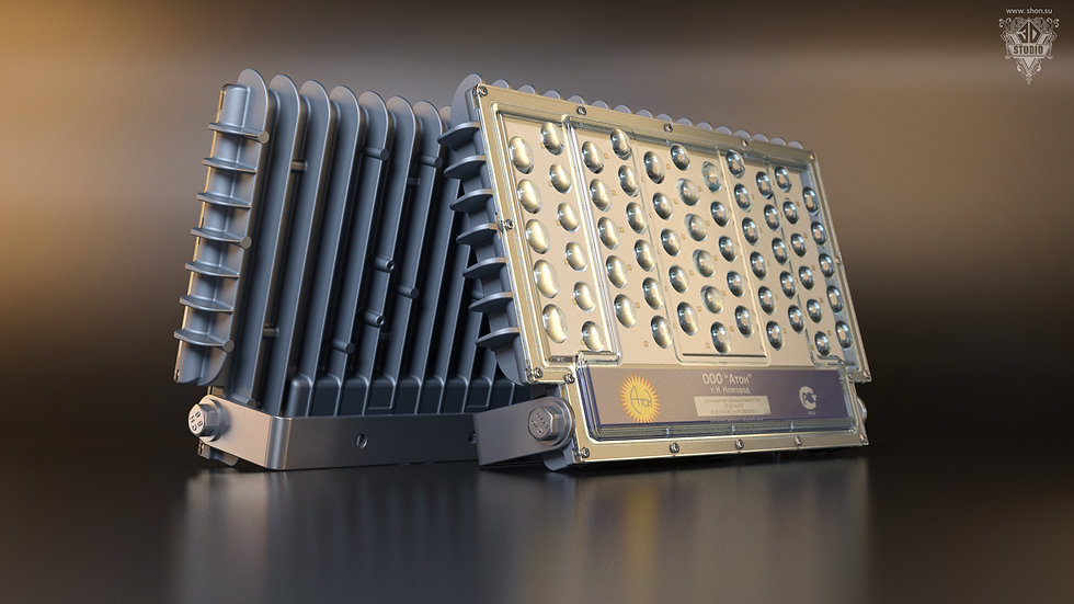 визуализация светодиодного светильника «АТОН-СТАР»