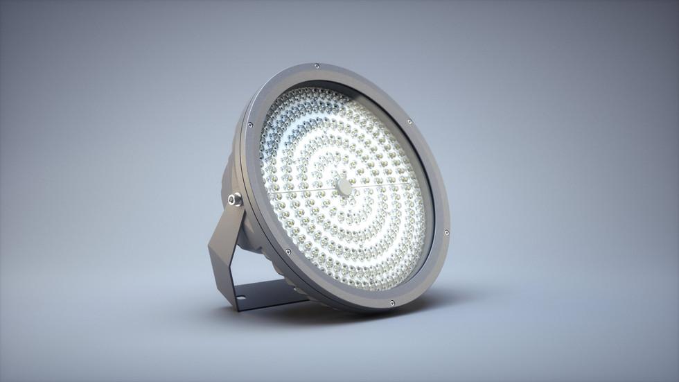 3D визуализация светодиодного светильника