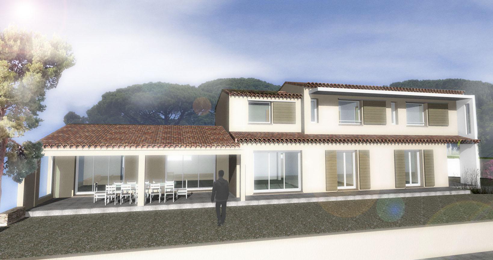 Réhabilitation Villa B à Sainte Maxime