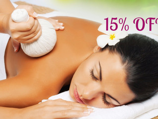 15% OFF all Thai massage treatments