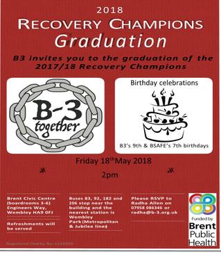 B3 Recovery Champions Graduation Celebration 2018