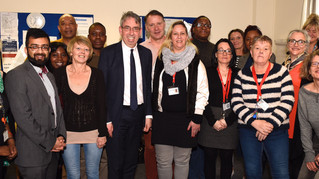 Duncan Selbie visit to Cobbold Road