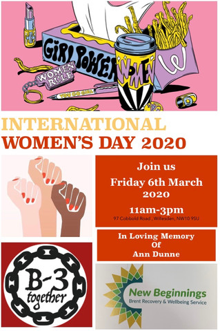 International Women's Day 2020 - Friday 6th March