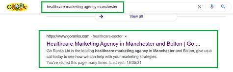 Healthcare Goranks SEO Google Rankings.p