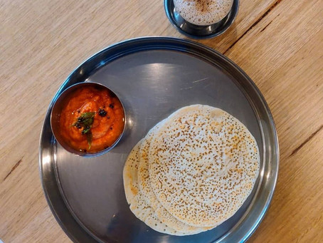 South Indian Set Doshas & Tomato Chutney
