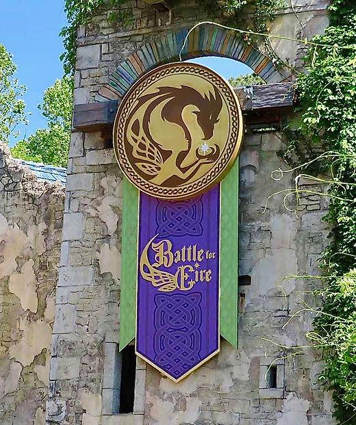 Busch Gardens Battle for Eire Theming Michigan Scenic Studio Scenic Fabrication