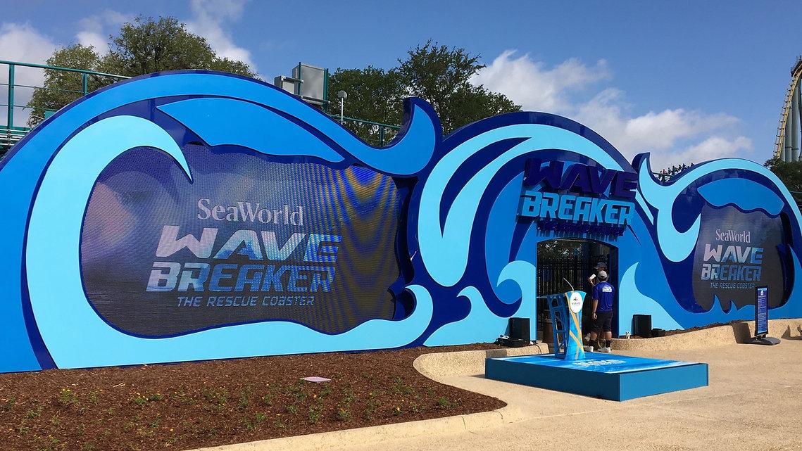 Sea World Texas Wave Breaker Scenic Fabrication Michigan Scenic Studio