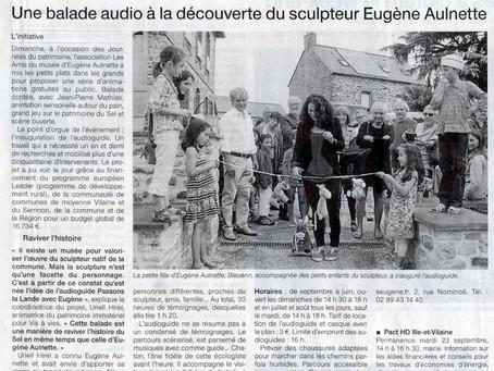 """Inauguration de la balade audioguidée """"Passons la lande avec Eugène"""