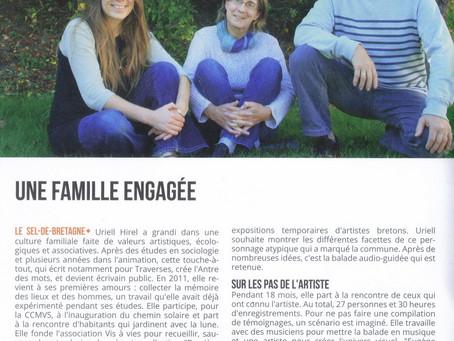 """Deux beaux articles parus dans le magazine """"Traverses"""" sur notre travail au Sel de Bretagn"""