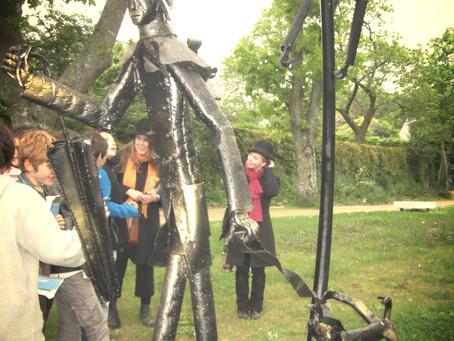 Valorisation de l'exposition de sculptures de Jean-Alexandre Delattre