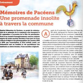 Mémoires de Pacéens - Vivre à Pacé Septembre 2019