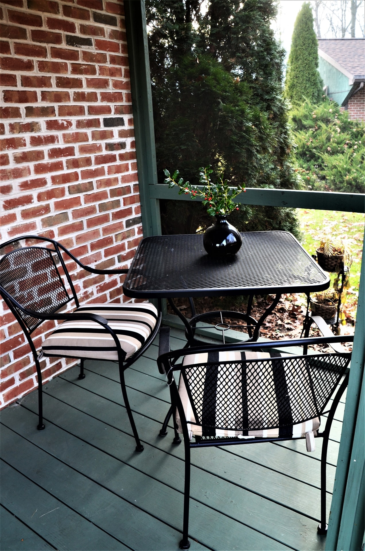 Screened Porch table