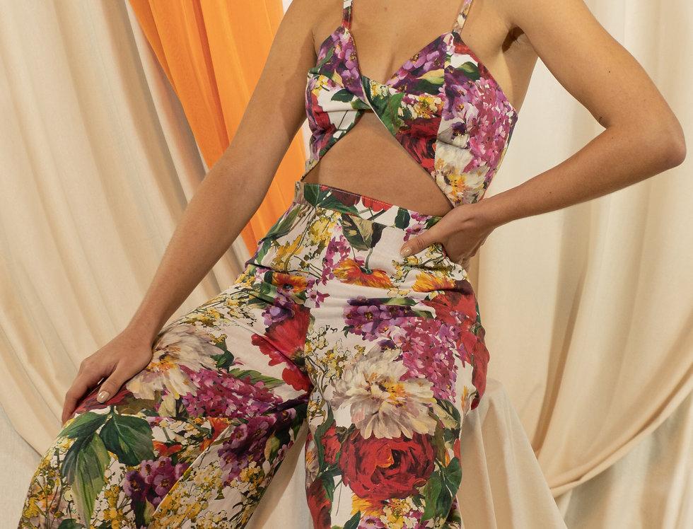 Jumpsuit Floral en lino