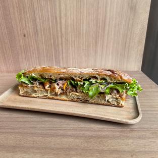 sandwich de chicharrón -  fried pork sandwich -  s/.26