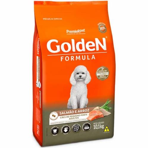 Golden Fórmula Mini Bits para Cães Adultos de Pequeno Porte Sabor Salmão e Arroz
