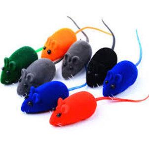 Ratinho de camurça c/apito (cores variadas)