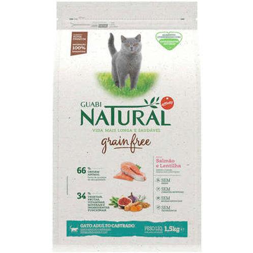 Guabi Grain Free Salmão e Lentilha para Gatos Castrados