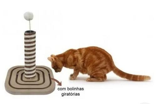 Arranhador labirinto de madeira c/sisal para gatos