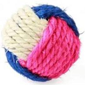 Bola de sisal P para gato (cores variadas)