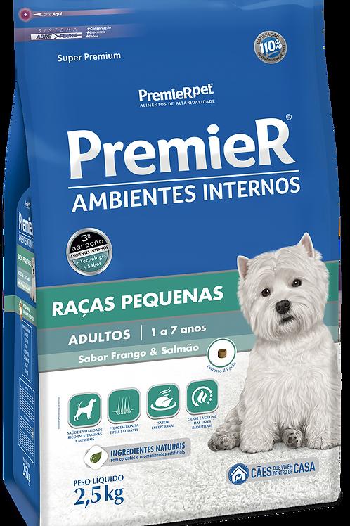 Premier Pet Ambientes Internos Cães Adultos Frango e Salmão