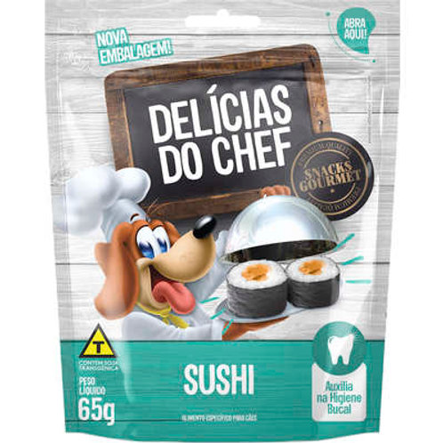 Petisco Snack Petitos Delicias do Chef Sabor Sushi para Cães