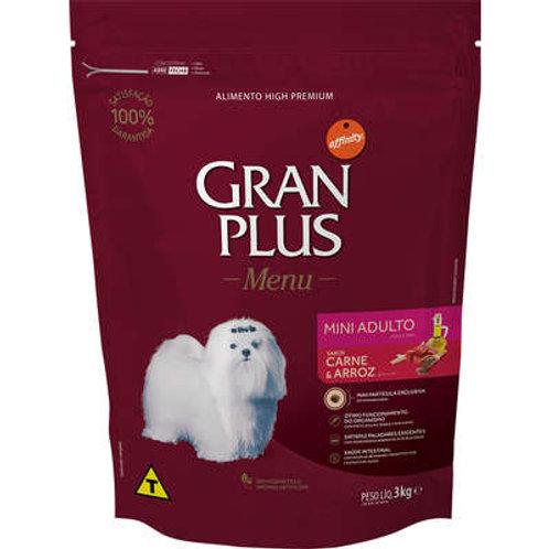 GranPlus Menu Carne e Arroz para Cães Adultos Mini