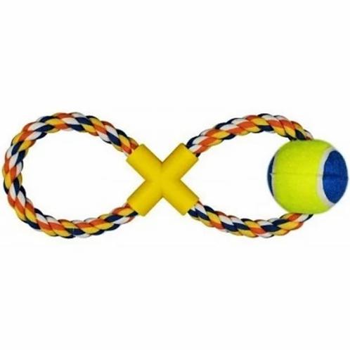 Mordedor corda com bola (foto ilustrativa cores diversas)