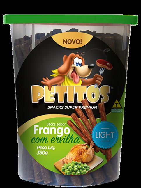 PETITOS STICK SABOR FRANGO COM ERVILHA LIGHT 350g