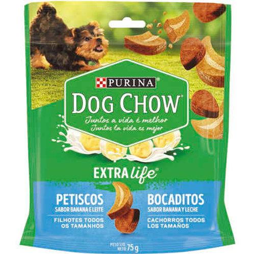 Petisco Nestlé Purina Dog Chow Extra Life Banana e Leite para Cães Filhotes
