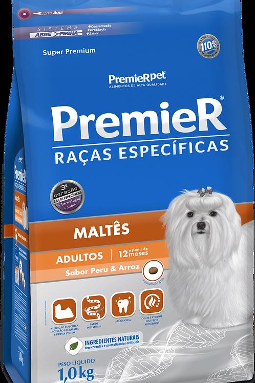 Premier Pet Raças Específicas Maltês Adulto Peru e Arroz