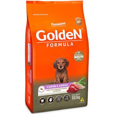 Golden Fórmula Mini Bits Para Cães Filhotes Raças Pequenas Sabor Carne e Arroz
