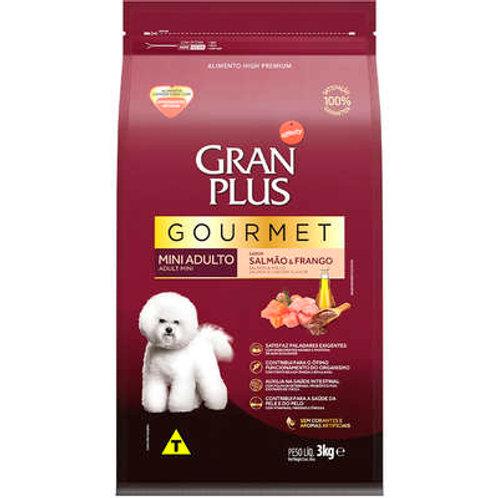 Gran Plus Gourmet Salmão & Frango para Cães Adultos Raças Mini