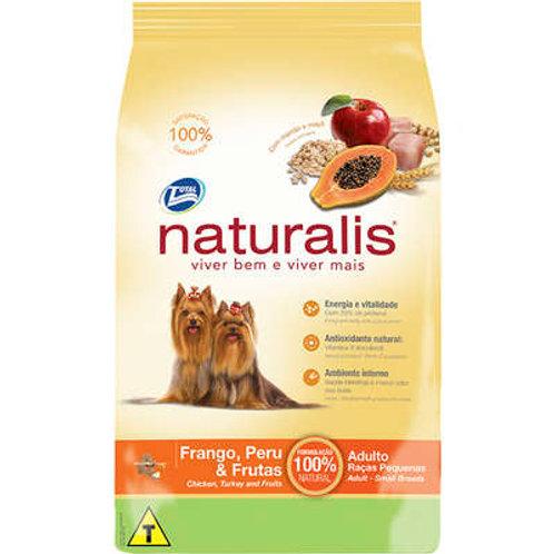 Naturalis Frango, Peru e Frutas para Cães Adultos de Raças Pequenas