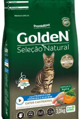 Golden para Gatos Adultos Castrados Seleção Natural Abóbora