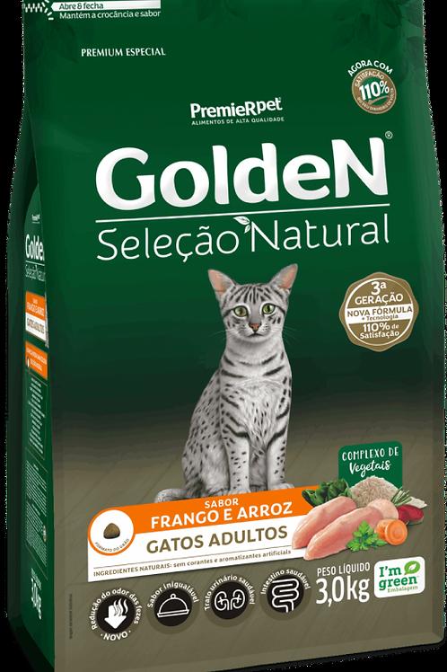 Golden Seleção Natural para Gatos Adultos Sabor Frango