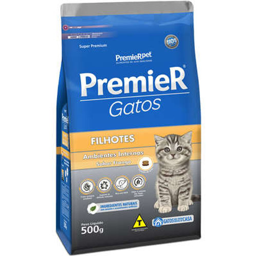 Premier Pet Ambientes Internos Gatos Filhotes Frango