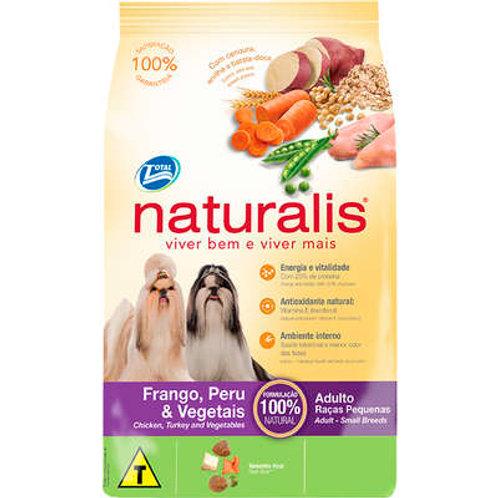 Naturalis Frango,Peru e Vegetais para Cães Adultos Raças Pequenas
