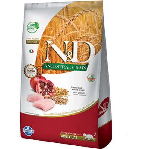 N&D Ancestral Grain Frango Gatos Adultos