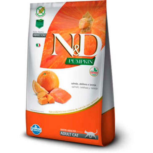 N&D Pumpkin Salmão, Abóbora e Laranja para Gatos Adultos
