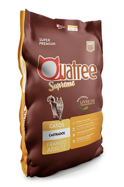 Quatree Supreme gato castrado Frango 1kg
