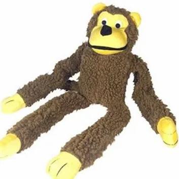 Macaco de pelúcia com buzina