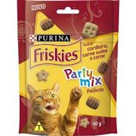 Friskies Party Mix cordeiro, carne suína e carne