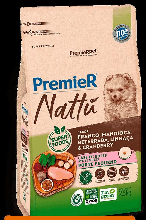PREMIER NATTU CÃES FILHOTES PORTE PEQUENO MANDIOCA