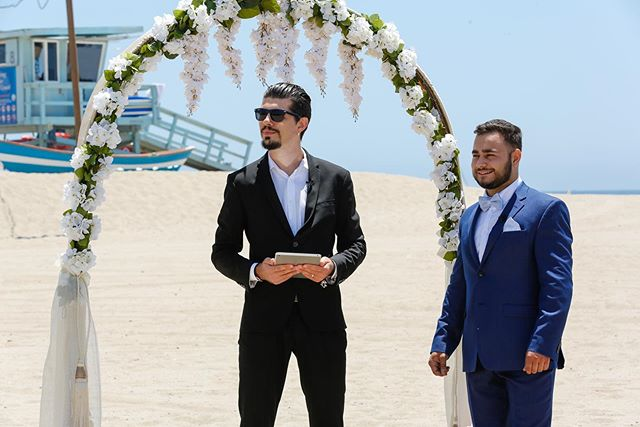 Wedding Ceremony at Santa Monica Beach