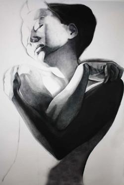 """""""4"""", 150x80cm, charcoal, 2010"""